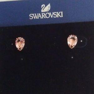 Swarovski New Pink Crystal Teardrop Earrings